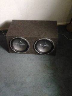 two mtx audio in box fosale or trade
