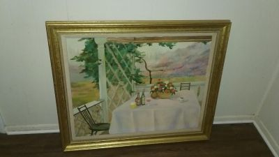Large Painting in Gold Frame