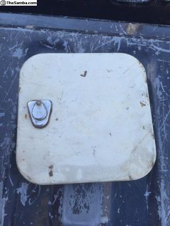 Original paint Pearl White Bus gas door