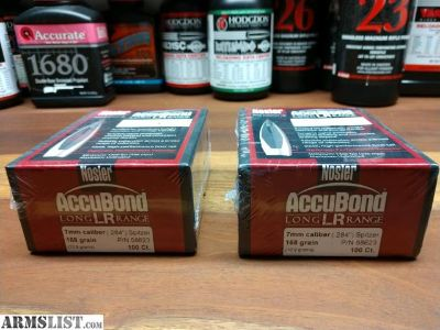 For Sale: Nosler Long Range Accubond Bullets 7mm/.284