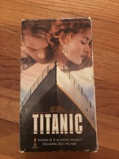 Titanic and pope john Paul vhs tapes