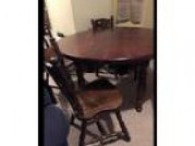 Antique s Captains style solid wood table (Olney)