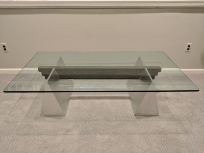 Custom Contemporary Glass Coffee Table