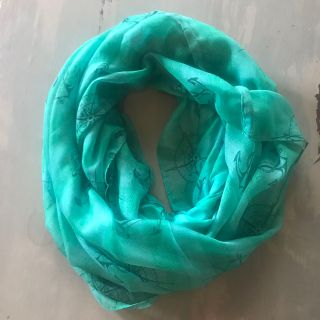 Anchor compass infinity scarf