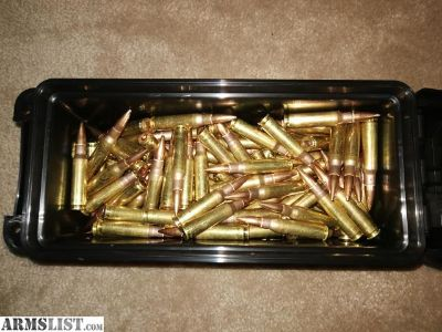 For Sale: 200rds Lake City M80 Surplus 7.62x51/308 Ammo in plastic ammo can