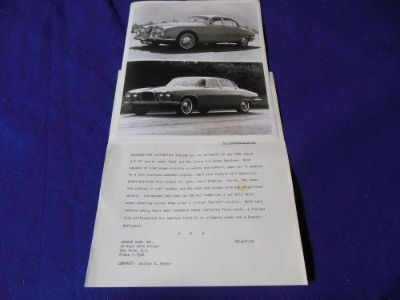 Sell Original 1965 Jaguar 3.8S 4.2 Factory Press Photo with Release motorcycle in North Haven, Connecticut, United States