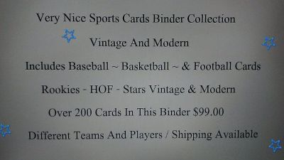 Sports Cards Binder Collection