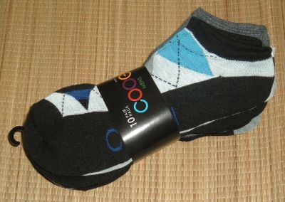 NEW Coogi 10 Pair Pack Socks Gray Black Blue Argyle Color Block Striped 10 - 13