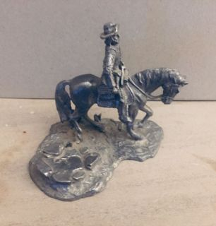 Pewter Cowboy on a Horse