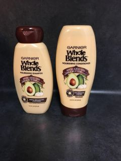 New Garnier Whole Blends Shampoo and Conditioner