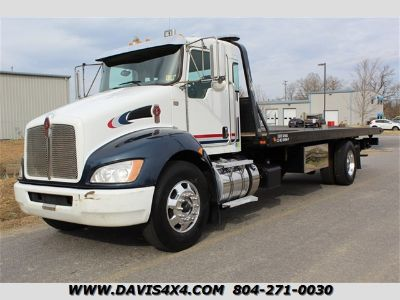2012 Kenworth T370 Rollback Commercial Wrecker To (White)
