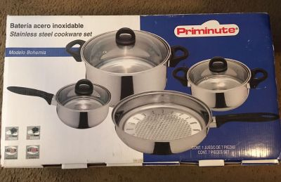 Priminute Bohemia Stainless Steel 7 pieces Cookware Set Brand new