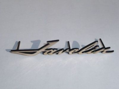 "Sell AMC ""Javelin"" 6"" script ""NEW"" emblem ... chromed metal AMC #3614686 motorcycle in Middleburg, Pennsylvania, United States, for US $40.00"