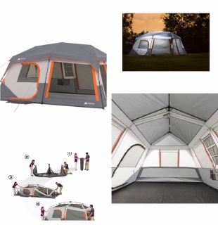 Ozark trail 10-person instant tent with LED lights