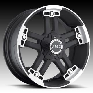 """Buy 20"""" V-TEC 394 Black Wheels Rims Hummer H2 H3 4wd motorcycle in Victorville, California, US, for US $725.00"""