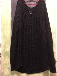 Women s Calvin Klein Jeans Crocheted XL Sweater
