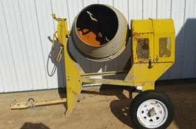 Cement Mixer Towable Gas Powered
