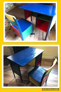 Kid s colorful desk w chair