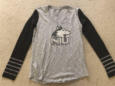 Woman s NIU huskies top- large but fits more like a loose small