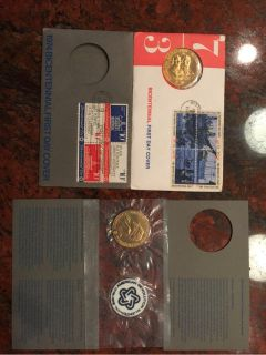 coins 1972/73 first day cover comm coin/stamps