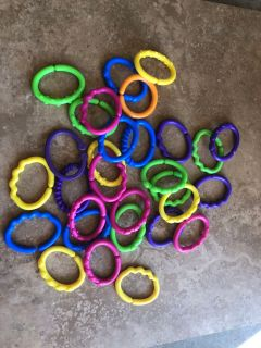 Rings (for connecting toys to stroller/car seat etc)