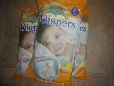 Diapers, 15ct, size 4