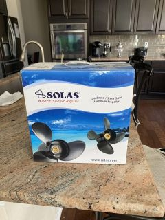 Solas Outboard Stern Drive Aluminum Propeller - brand new