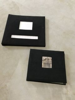 2 Black Scrapbooks