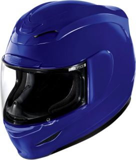 Sell Icon Airmada Gloss Blue Helmet 2013 Motorcycle Full Face motorcycle in Ashton, Illinois, US, for US $180.00