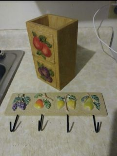 2 FRUIT Kitchen Utensil Holders