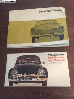 Aug 1966 K.Ghia Owners Manual + Distributors Book