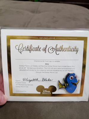 New In Package Dory Disney's Collectors Trading Pin
