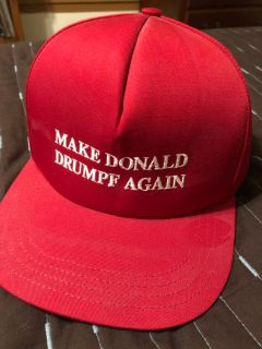 Make Donald Drumpf Again snap back hat