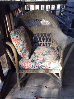 Real wicker rocking chair