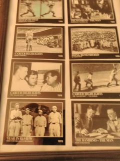 """9""""X12"""" framed picture *The Babe Ruth Collection"""