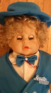 """Original JESSIE Doll Quebec Canada 2 Feet tall 1990 Certificate Originality Jessie Collection 1990 """"A True Collectors Doll"""" Designed and d"""