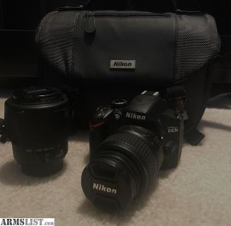 For Sale: Nikon D3200 DSLR with two lenses