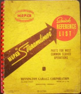 Find 1936 1946 1947 Mopar Streamliner Reference Book Plymouth Dodge Desoto Chrysler motorcycle in Holts Summit, Missouri, United States