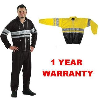 Sell LARGE ~ BLACK/YELLOW ~ NELSON RIGG 2-PC. RAIN SUIT ~ WARRANTY ~ Harley BIKERS motorcycle in Harleysville, Pennsylvania, US, for US $34.12