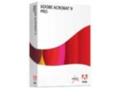 Adobe Acrobat 9 Pro Full Retail Version Box Pack Sealed -