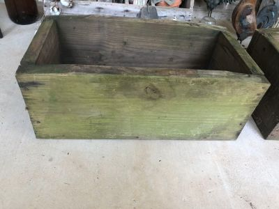 Old wood box or planter