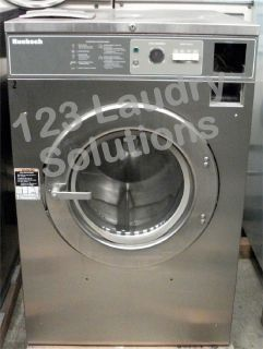 Coin Operated Huebsch Front Load Washer 208-240v Stainless Steel HC40MY2OU60001 Used
