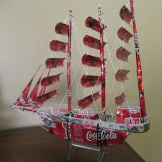 Hand made Coca-Cola Ship