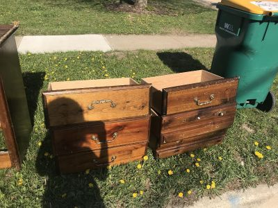 Free dresser on curb on Meadow Lane.Needs work.Not smoking home. Will delete when it is gone.