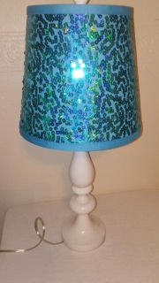 Blue Sequined Table Lamp