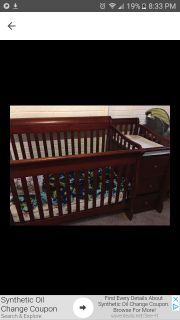Tuscany Crib and More with changing table 3 Drawers and shelves in the back