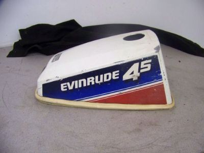 Sell USED 4.5 HP Evinrude Johnson cowling hood with gas fill hole motorcycle in Scottsville, Kentucky, United States, for US $25.00