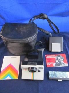 POLAROID Rainbow SX70 One Step Land Camera Case Manual ~ITT Magicflash