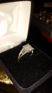 """Today only, tomorrow this item goes as well! Kay's new in the box, 1/4 ct tw genuine diamond, sterling silver """"MOM"""" ring. PD $229 firm $100"""
