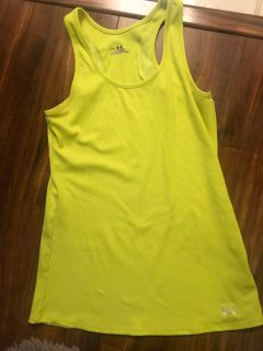 WOMENS UNDER ARMOUR TANK SOFT THIN RIBBED TANK TOP SIZE LARGE